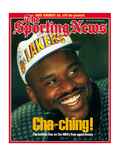 Los Angeles Lakers' Shaquille O'Neal - July 29, 1996 Premium Photographic Print