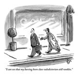 """I can see that my having been class valedictorian still rankles."" - New Yorker Cartoon Premium Giclee Print by Frank Cotham"