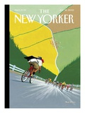 Tour de Force - The New Yorker Cover, July 25, 2005 Premium Giclee Print by Bruce McCall