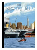 The New Yorker Cover - September 20, 2004 Premium Giclee Print by Bruce McCall