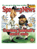 New York Yankees&#39; Randy Johnson and Boston Red Sox&#39; Johnny Damon - July 15, 2005 Print