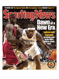 Cleveland Cavaliers' LeBron James and Denver Nuggets' Carmelo Anthony - November 17, 2003 Prints