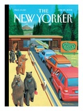 Summer Job - The New Yorker Cover, June 23, 2008 Regular Giclee Print by Bruce McCall