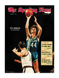 Atlanta Hawks Pete Maravich - March 6, 1971 Photographie