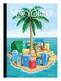 A Clear Conscience - The New Yorker Cover, November 26, 2007 Regular Giclee Print by Bruce McCall