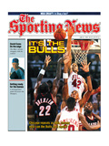 Chicago Bulls Scottie Pippen and Scott Williams - NBA Champions - June 22, 1992 Premium Photographic Print