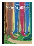 Step into Style - The New Yorker Cover, September 14, 2009 Regular Giclee Print by Bruce McCall