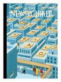 View from the Top - The New Yorker Cover, April 10, 2006 Regular Giclee Print by Bruce McCall