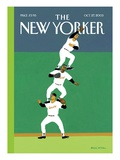 Fly Ball - The New Yorker Cover, October 27, 2003 Premium Giclee Print by Bruce McCall