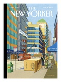 A Penthouse on Every Floor - The New Yorker Cover, May 31, 2004 Regular Giclee Print by Bruce McCall