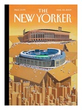 Opening Day - The New Yorker Cover, March 30, 2009 Regular Giclee Print by Bruce McCall