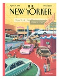 The Auto Show - The New Yorker Cover, April 24, 1995 Regular Giclee Print by Bruce McCall