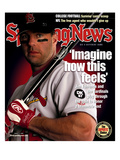 St. Louis Cardinals CF Jim Edmonds - August 5, 2002 Print