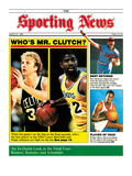 Boston Celtics' Larry Bird and L.A. Lakers' Magic Johnson - March 31, 1986 Premium Photographic Print