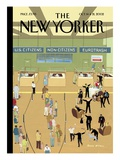 The New Yorker Cover - October 14, 2002 Premium Giclee Print by Bruce McCall
