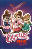 Alvin and the Chipmunks: The Squeakquel Movie (The Chipettes) Poster Print Billeder