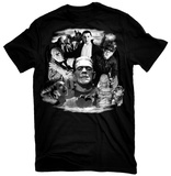 Universal Monsters - Glow in the Dark Monster Collage T-shirts