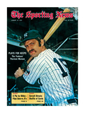 New York Yankees Catcher Thurman Munson - August 18, 1973 Premium Photographic Print