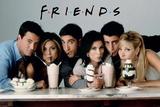 FRIENDS série télé avec milkshakes Affiches