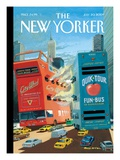 Tour Wars - The New Yorker Cover, July 20, 2009 Regular Giclee Print by Bruce McCall