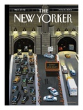 Expect Long Delays - The New Yorker Cover, November 15, 2004 Regular Giclee Print by Bruce McCall