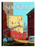 Landmarks Commission to Meet in Special Session - The New Yorker Cover, April 1, 1996 Regular Giclee Print by Bruce McCall
