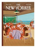Lobsterman's Special - The New Yorker Cover, August 4, 1997 Regular Giclee Print by Bruce McCall