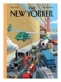 Museum Parking - The New Yorker Cover, September 28, 2009 Regular Giclee Print by Bruce McCall