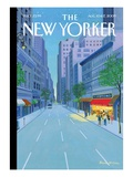 The Hamptons - The New Yorker Cover, August 10, 2009 Regular Giclee Print by Bruce McCall