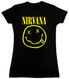 Juniors: Nirvana- Smile Tissue T-Shirts