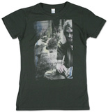 Juniors: Kurt Cobain - Sepia Photo - T-shirt