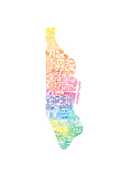 Typographic Manhattan Spring Premium Giclee Print by  CAPow