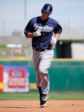 Goodyear, AZ - March 13: Texas Rangers v Cleveland Indians - Yu Darvish Photographic Print by Kevork Djansezian