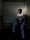 Surprise, AZ - February 28: Texas Rangers Photo Day - Yorvit Torrealba Photographic Print by Jamie Squire