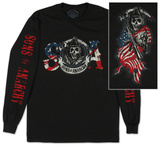 Long Sleeve: Sons of Anarchy - Reaper & Flag - T-shirt