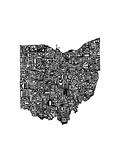 Typographic Ohio Premium Giclee Print by  CAPow