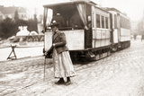 A Switchwoman in Munich, 1910 Photographic Print by Scherl