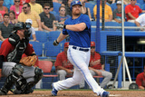 Dunedin, FL - March 10: Houston Astros v Toronto Blue Jays - Adam Lind Photographic Print by Al Messerschmidt