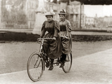 Tandem Riders in Berlin, 1905 Photographic Print by  Scherl