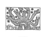 Untitled, 1982 Giclée-tryk af Keith Haring