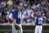 Surprise, AZ - March 09: Los Angeles Dodgers v Texas Rangers - Clayton Kershaw Photographic Print by Christian Petersen