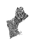 Typographic New England Arte por  CAPow