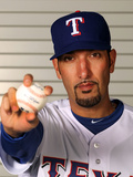 Surprise, AZ - February 28: Texas Rangers Photo Day - Mike Adams Photographic Print by Jamie Squire