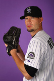 Scottsdale, AZ - February 28: Colorado Rockies Photo Day - Michael Cuddyer Photographic Print by Christian Petersen