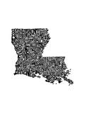 Typographic Louisiana Premium Giclee Print by  CAPow