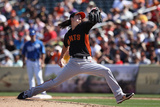 Surprise, AZ - March 12: San Francisco Giants v Kansas City Royals - Tim Lincecum Photographic Print by Christian Petersen