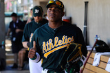 Phoenix, AZ - March 10: Cincinnati Reds v Oakland Athletics - Manny Ramirez Photographic Print by Kevork Djansezian