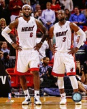 LeBron James & Dwyane Wade 2011-12 Action Photo