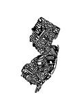 Typographic New Jersey Premium Giclee Print by  CAPow