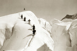 Climbers in the Swiss Alps, 1908 Photographic Print by Scherl 